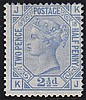 2½d, Plate 18 (KJ), blue, unmounted mint,