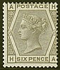 6d, plate 15 (HA), grey, unmounted mint,