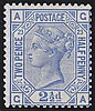 2½d, Plate 23 (CA), blue, unmounted mint,