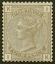 4d, plate 17 (IK), grey-brown, unmounted mint,