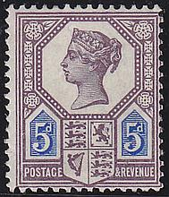 5d, die 1, dull purple & blue, unmounted mint,