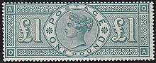 £1,(OA) green, unmounted mint,