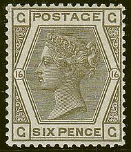 6d, plate 14 (CC), grey, unmounted mint,