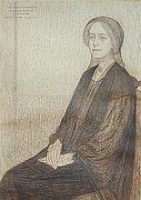 § Leon de Smet (Belgian, 1881-1966) Portrait of Madame Blanche Lillian Sauter (1864-1924) inscribed upper left