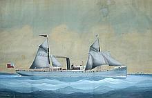 English School (19th century) The Steamship Caerloch