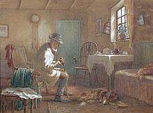 William Kay Blacklock, ARCA (British, 1872-1922) A Shepherd and his Dog