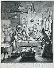Toms, after Egbert van Heemskerk (Dutch, born circa 1634-1704) Behold a Quack Physicians Hall, Adorn'd with Beasts like Butcher's St...