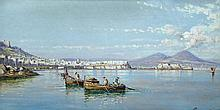 Giuseppe Carelli (Italian, 1858-1921) The Bay of Naples signed lower right