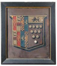 English School (18th Century) - A Heraldic Panel    - oil on canvas