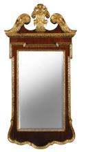A George II style mahogany and parcel gilt pier glass,