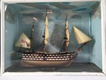 'HMS Victory 1765', a cased model of the battleship,