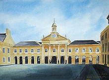 § Peter Knuttel (British, b. 1945) Chapel at Emmanuel College, Cambridge watercolour