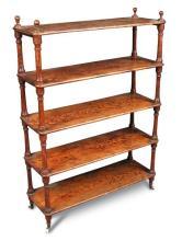 A late 19th century Oregon pine shelf,