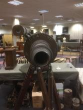 A large 19th century 4 inch copper and brass refracting telescope by Clarkson of London,