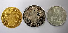 An Austro-Hungarian gold four ducats coin, 1915,