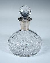 A silver mounted ship's decanter,