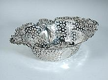 A Victorian silver pastry basket,