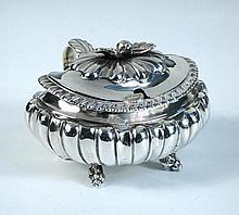 A George IV silver mustard pot,