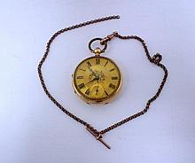 A Victorian 18ct gold cased open face pocket watch,