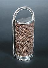 †A George III silver nutmeg grater,