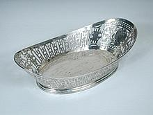A French silver pastry basket,