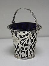 A George III silver cream pail,