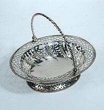 A George II silver basket ,