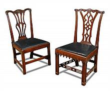 A George III mahogany gothic dining chair,