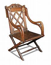 A 19th century Gothic revival oak ceremonial chair,
