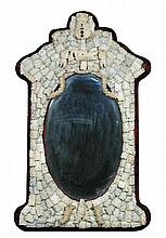 A 19th century Dieppe carved bone decorated wall mirror,