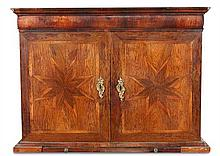 A kingwood and parquetry inlaid cabinet, 19th century