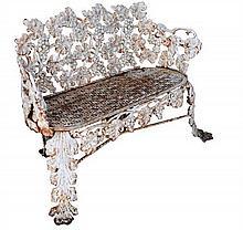 A small 19th century cast iron garden seat,