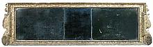 A gilt framed overmantle mirror, early 18th century