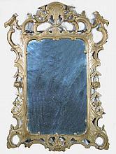 An early George III giltwood wood framed mirror, circa 1765