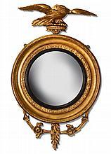 A Regency gilt framed convex mirror,