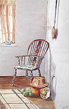 § Dorothy Kerrison (British, 1900-1995) A portfolio of watercolours, various sizes