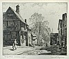 § Leonard Squirrell (British, 1893-1979) - Lavenham; and another etching by Albert Goethals, Leonard Russell Squirrell, £120