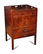 A George III mahogany night table,