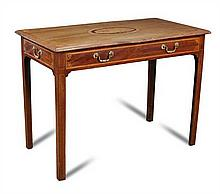 A George III mahogany inlaid centre table,