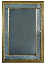 A George III gilt framed mirror,