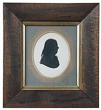 John M Field (British, 1771-1841) Silhouette of Dr Samuel Arnold, Professor in Music (1740-1802), 8.5 x 7cm (3.5 x 2.75in); together...