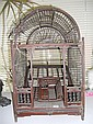 A late 19th century Chinese bird cage,