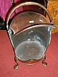 A 19th century copper plate warmer,