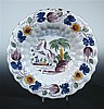 A mid 18th century Delft dish, possibly Frankfurt or Scandinavian,