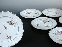 Ten Sevres plates, date letters mainly for 1776,