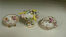 An early 19th century Spode and two other miniature bowls,