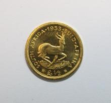 South Africa - a gold half pound coin,