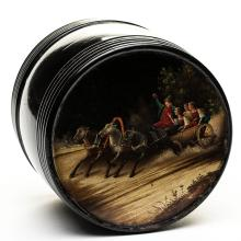 A Russian Lacquer Box, 19th C.