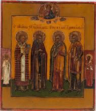 A Russian Icon Of Selected Saints