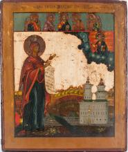 A Russian Icon Of Bogoliubskaya Mother Of God 19th C.